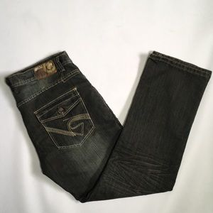 NWOT Antique Black Wash Urban Jeans - 38x32